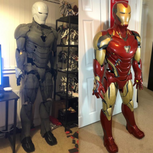 ironman cosplay before and after